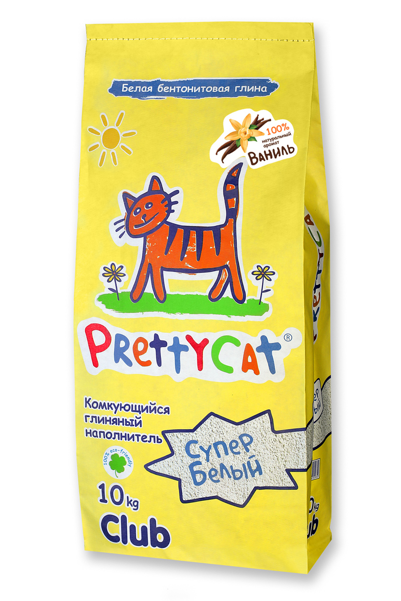 Наполнитель для кошачьих туалетов PrettyCat Супер белый, комкующийся, с ароматом ванили, 10 кг наполнитель для кошачьих туалетов canada litter запах на замке комкующийся с ароматом детской присыпки 6 кг