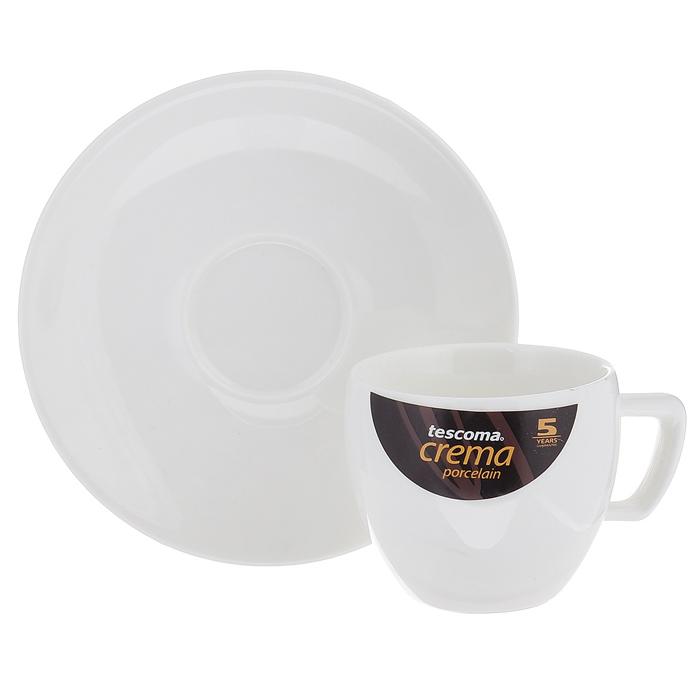 Фото - Чашка для эспрессо Tescoma Crema, с блюдцем [супермаркет] jingdong геб scybe фил приблизительно круглая чашка установлена в вертикальном положении стеклянной чашки 290мла 6 z
