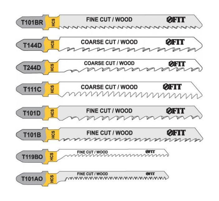 Набор полотен для электролобзика Fit, 10 шт набор полотен для электролобзика зубр мастер 15591 h5