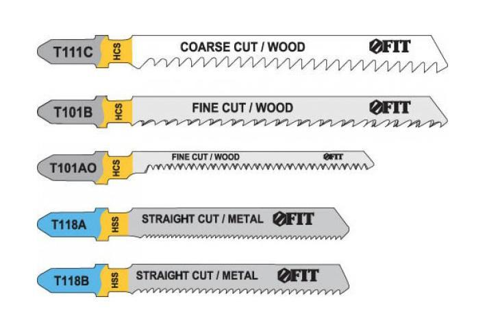 Набор полотен для электролобзика, 5 шт (T111C; T101BR; T101AO; T118A; T118B) набор полотен для электролобзика зубр мастер 15591 h5