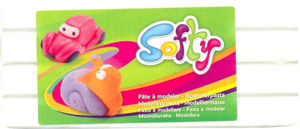"Пластилин ""Softy"", цвет: белый (010), 500 г"
