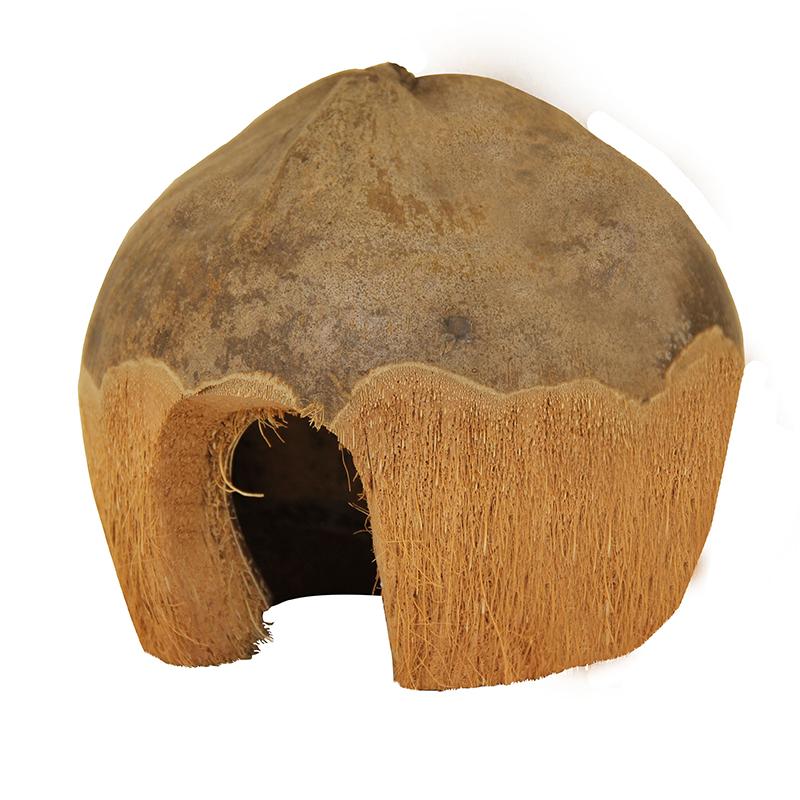 Домик для грызунов Triol, из кокоса, 13 см х 13 см х 10 см домик для грызунов triol башмак