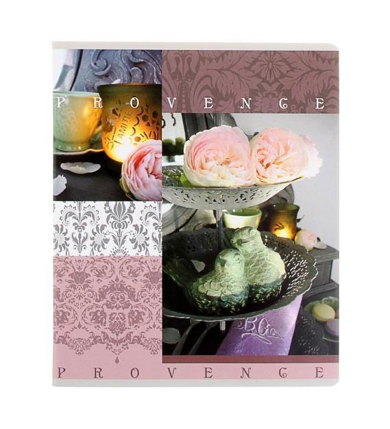 Полиграфика Тетрадь, 96л Provence роза с птичками