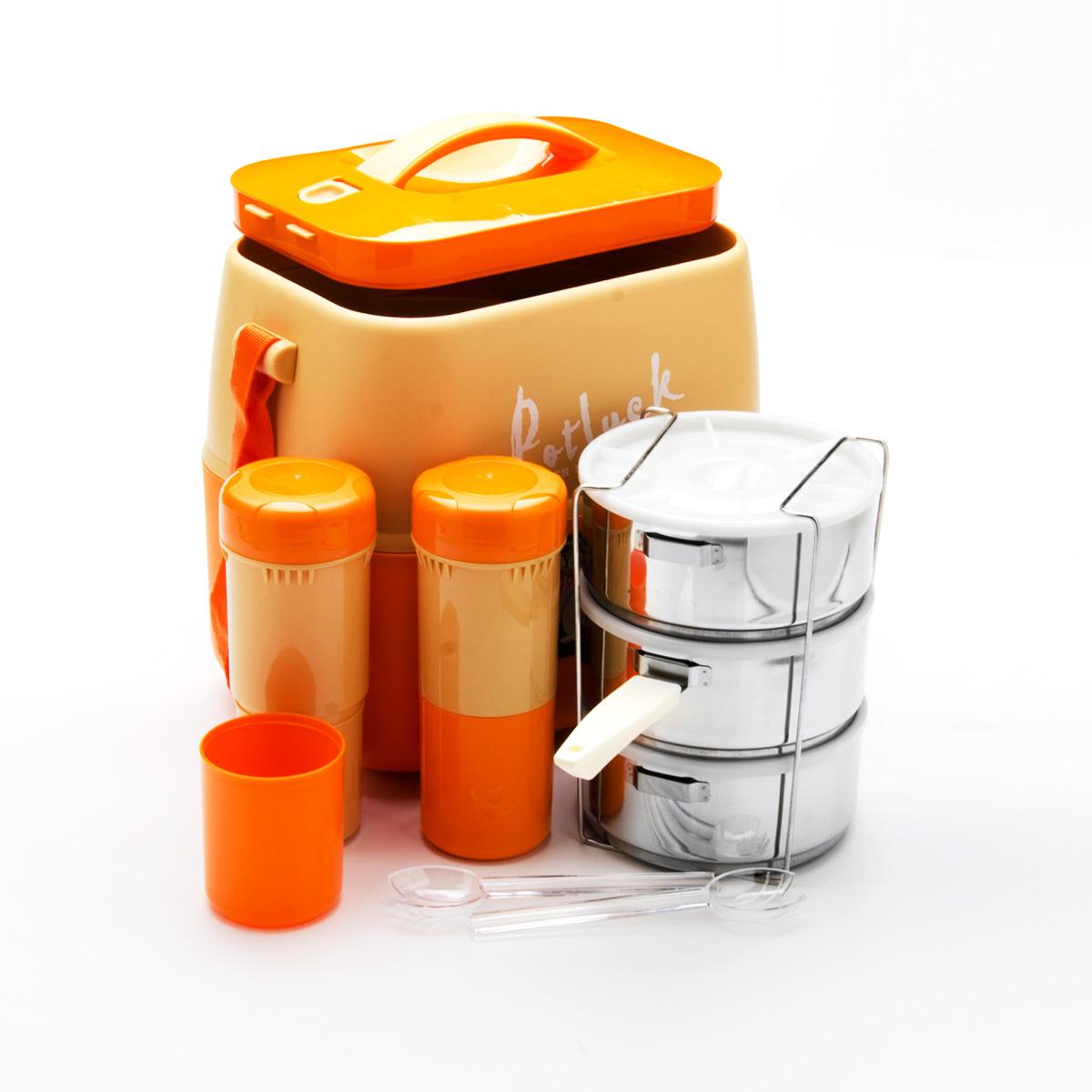 """Термо-контейнер для продуктов """"Mayer & Boch"""", цвет: оранжевый, 3,6 л"""