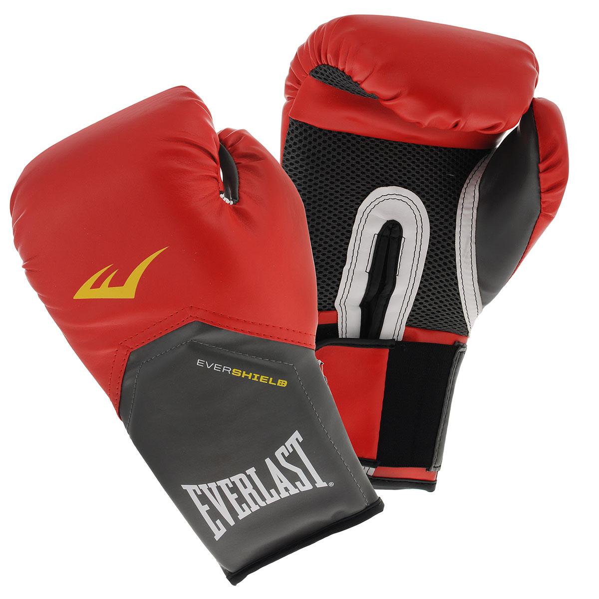 """Перчатки тренировочные Everlast """"Pro Style Elite"""", цвет: красный, 12 унций"""
