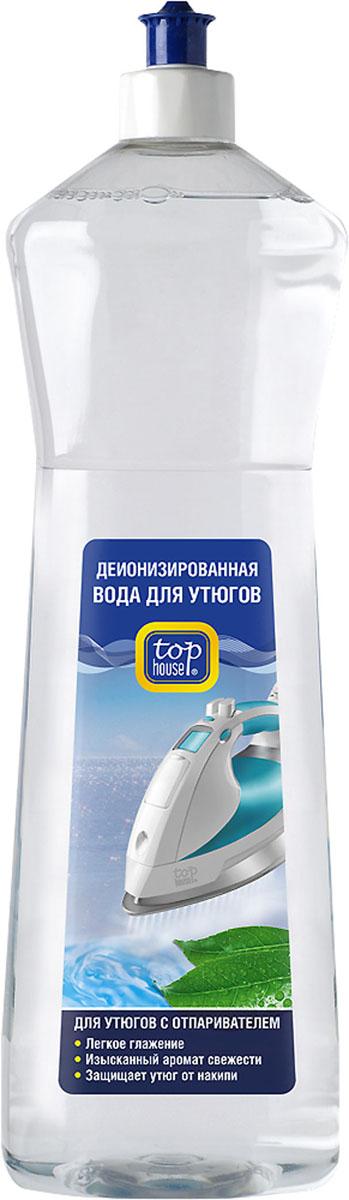 """Деионизированная вода """"Top House"""" для утюгов с отпаривателем, с ароматом свежести, 1 л"""