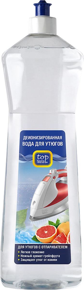 Деионизированная вода Top House для утюгов с отпаривателем, с ароматом грейпфрута, 1 л насадка для утюгов с отпаривателем marta mt 1130