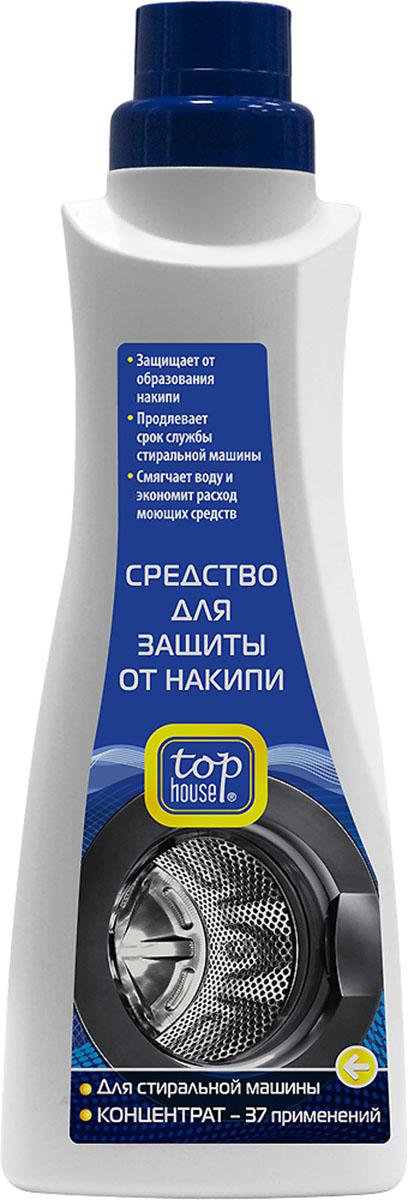 Средство для защиты стиральной машины от накипи Top House, концентрат, 750 мл средство для чистки барабанов стиральных машин nagara 5 х 4 5 г