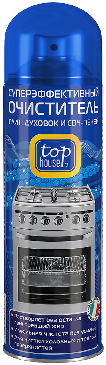 Очиститель плит, духовок и СВЧ-печей Top House, 300 мл набор для смартфонов и планшетов top house очиститель салфетка 40 мл