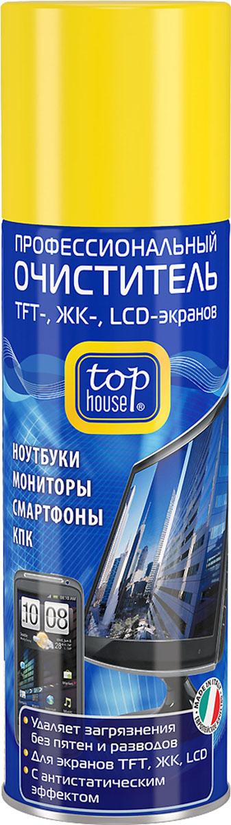 Очиститель TFT-, ЖК-, LCD-экранов Top House, 200 мл набор для смартфонов и планшетов top house очиститель салфетка 40 мл