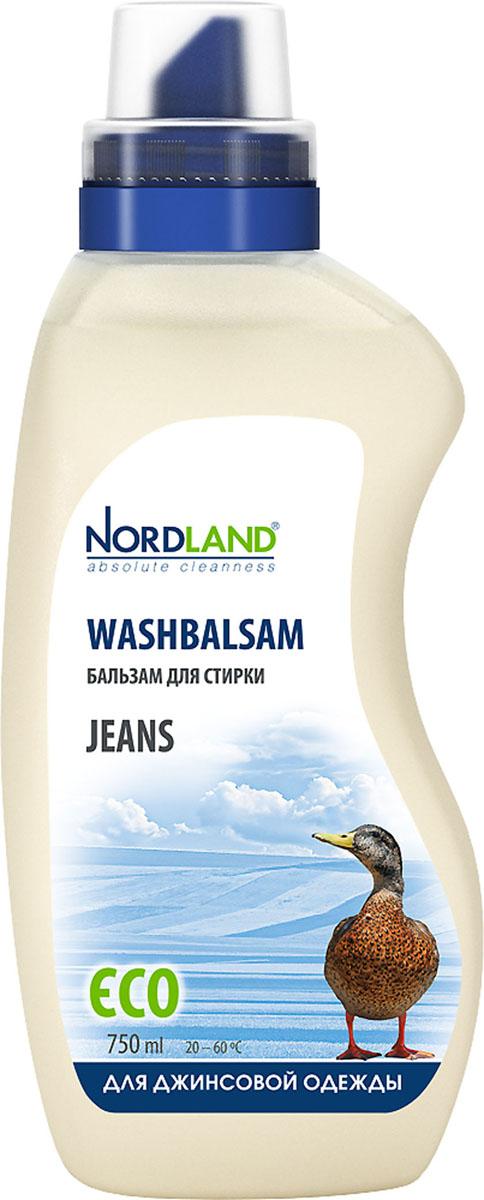 """Жидкое средство для стирки391039391039Бальзам для стирки Nordland """"Jeans"""" специально предназначен для стирки джинсовой одежды. Сохраняет цвет и структуру ткани. Бережно стирает. Содержит безопасные, не раздражающие кожу компоненты. Подходит для всех типов стиральных машин и ручной стирки при температуре от +20° до +60°С. - Без красителей - Экономичный расход - Действует уже при +20°С - Биораспад 100% Состав: 5-15% анионные ПАВ; менее 5% неионные ПАВ, мыло, фосфонаты, энзимы, ароматизаторы (цитронеллол, гексил циннамал, гераниол), консерванты (метилхлороизотиазолинон, метилизотиазолинон). Товар сертифицирован."""