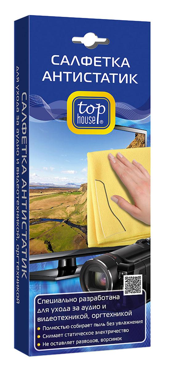 Салфетка-антистатик Top House, 40 х 40 см набор для смартфонов и планшетов top house очиститель салфетка 40 мл