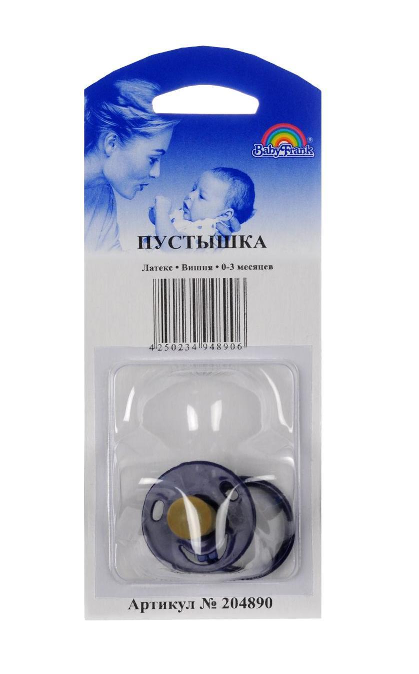 Пустышка, вишня, латекс, круглый маленький нагубник для недоношенных, 0-3 мес., тв/уп №1 синий