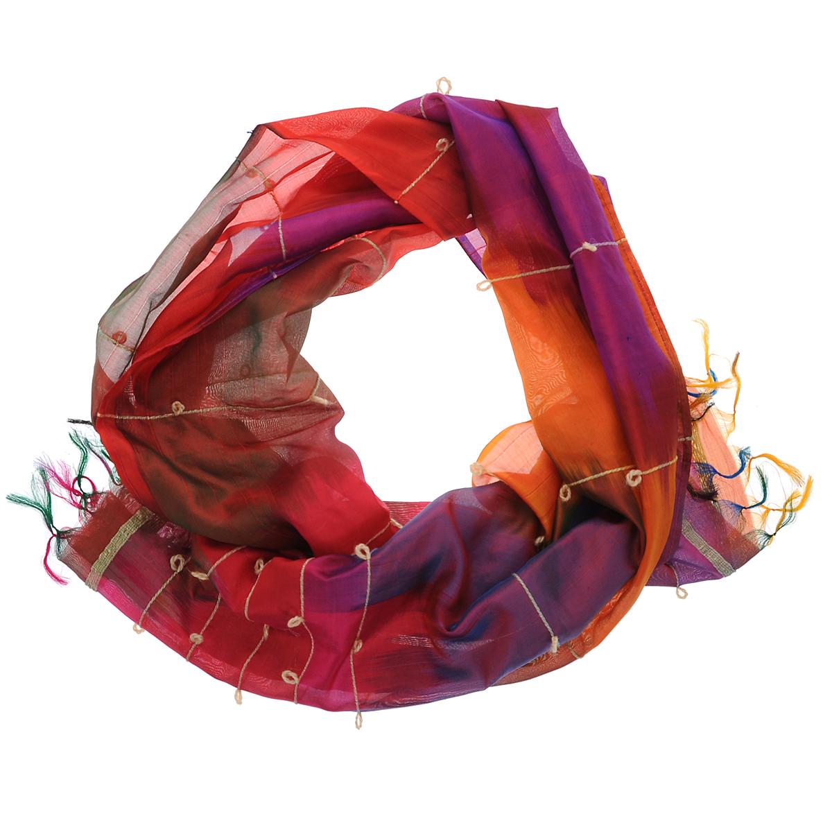 Шарф Ethnica шарф женский ethnica цвет оранжевый бордовый 937350 размер 50 см х 170 см