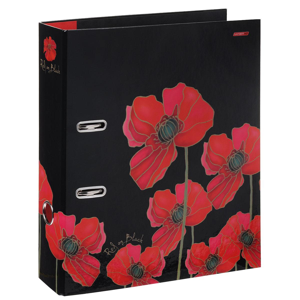 Папка-регистратор Hatber Red on Black, ширина корешка 70 мм, цвет: черный, красный папка регистратор hatber red on black ширина корешка 70 мм цвет черный красный