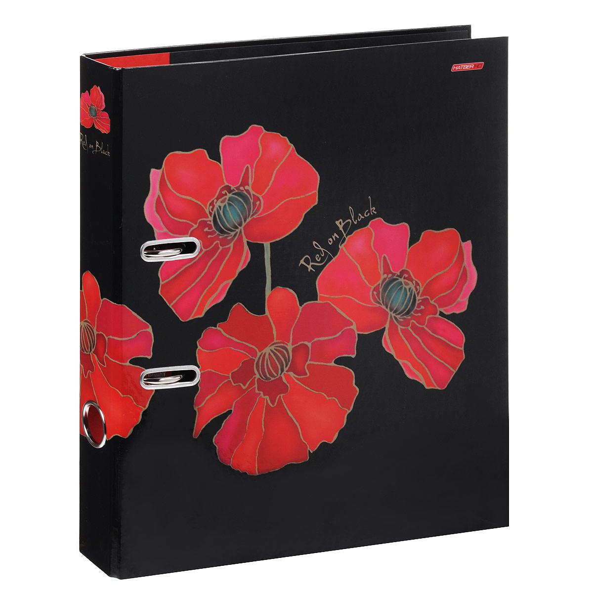 Папка-регистратор Hatber Red on Black, ширина корешка 50 мм, цвет: черный, красный папка регистратор hatber red on black ширина корешка 70 мм цвет черный красный