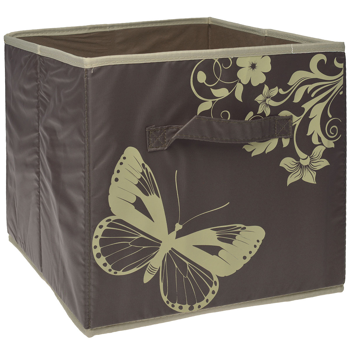 Ящик для хранения Hausmann, без крышки, цвет: коричневый, 31 x 34 x 29,5 см ящик для хранения белья hausmann 30х35х11 см