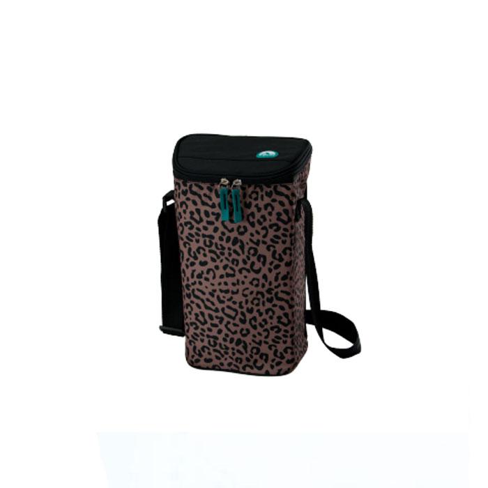 Сумка-термос Igloo Wine Tote 16 leopard, для 2 бутылок вина или газированных напитков