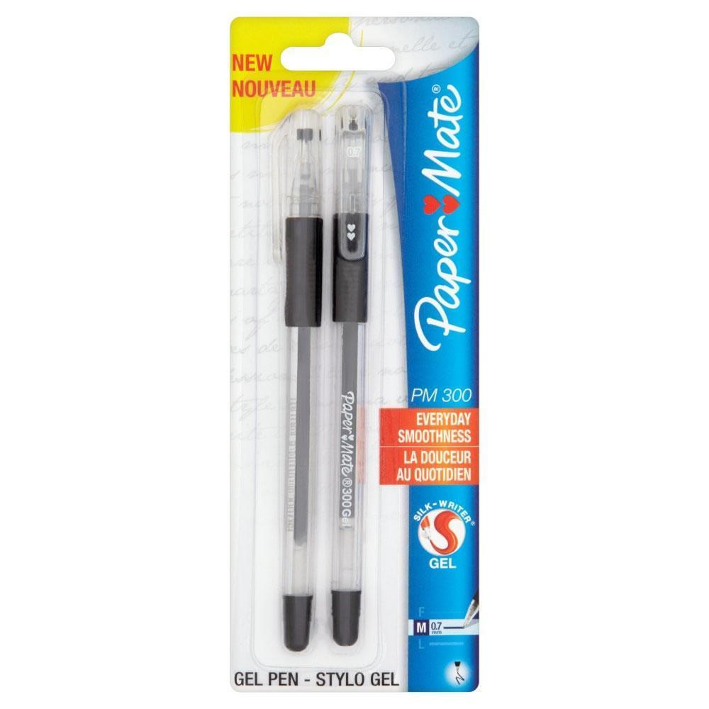 Ручка гелевая PM 300, черная, 0,7мм, 2шт. в блистере набор гелевых ручек paper mate pm 300 2 шт черный 0 7 мм pm s0929300