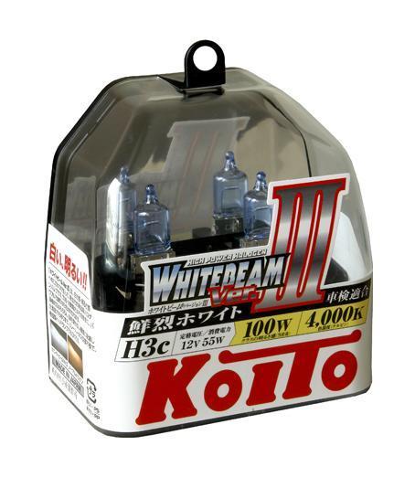 Комплект галогеновых ламп Koito Whitebeam H3c, 12V, 55W, 4000 К, 2 шт
