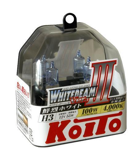 Лампа высокотемпературная Koito Whitebeam H3 12V 55W (100W) 2 шт P0752W