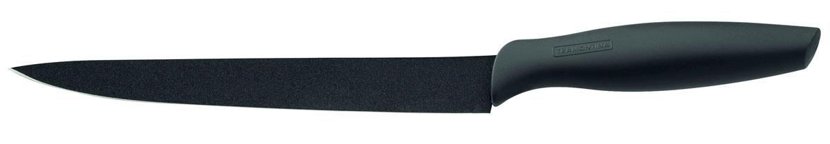 """Нож кухонный Tramontina """"Onix"""", с керамическим покрытием, цвет: черный, длина лезвия 20 см"""