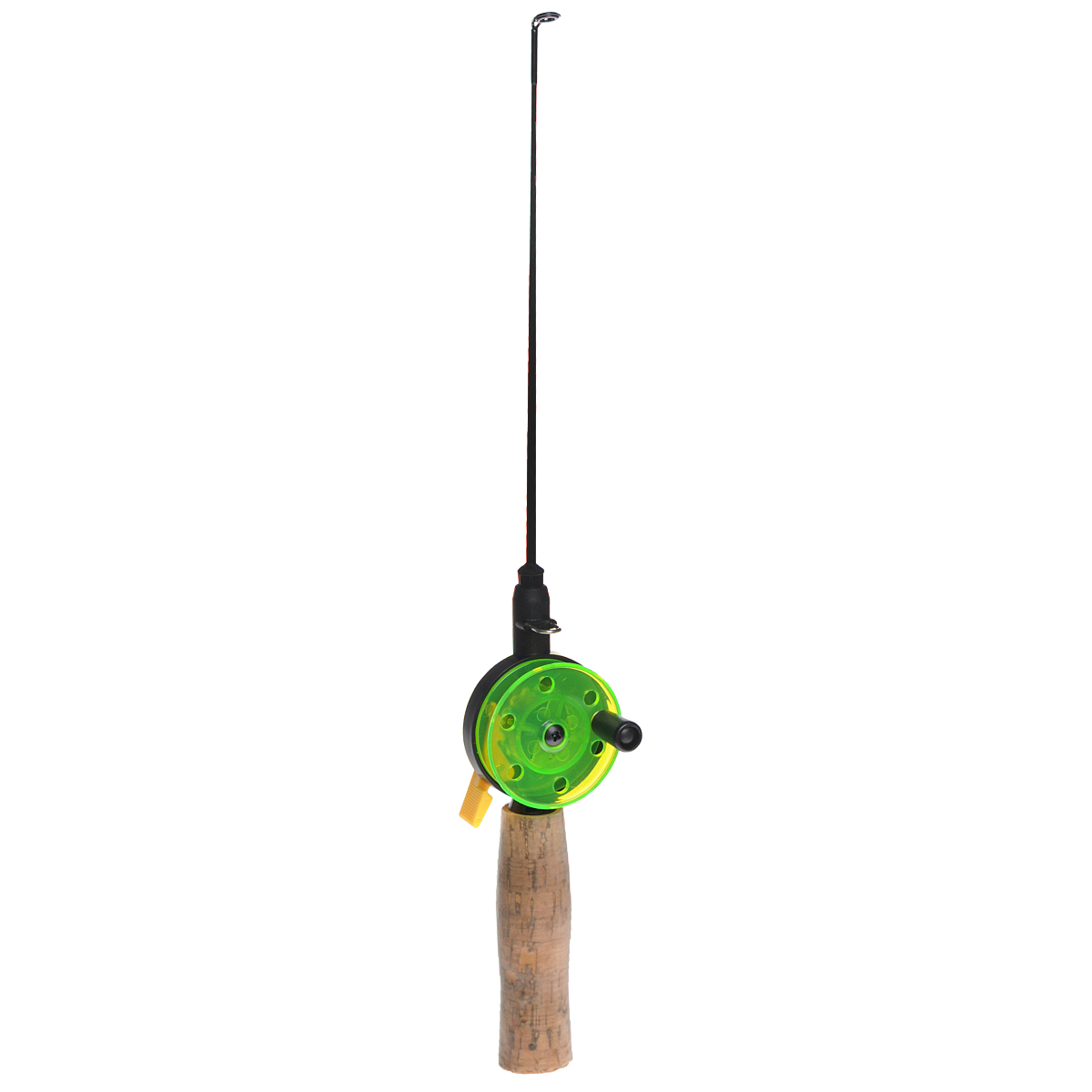 Удочка зимняя SWD HR106A, цвет: черный, зеленый, 37 см. BJX0104 удочка зимняя akara 1808504 пробковая ручка с хлыстом ql d25 без тюльпана