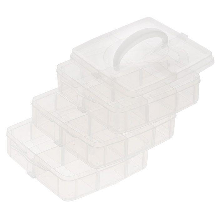 Контейнер для мелочей Hobby & Pro, 3-х ярусный, 15,5 см х 16 см х 13 см контейнер для мелочей hobby