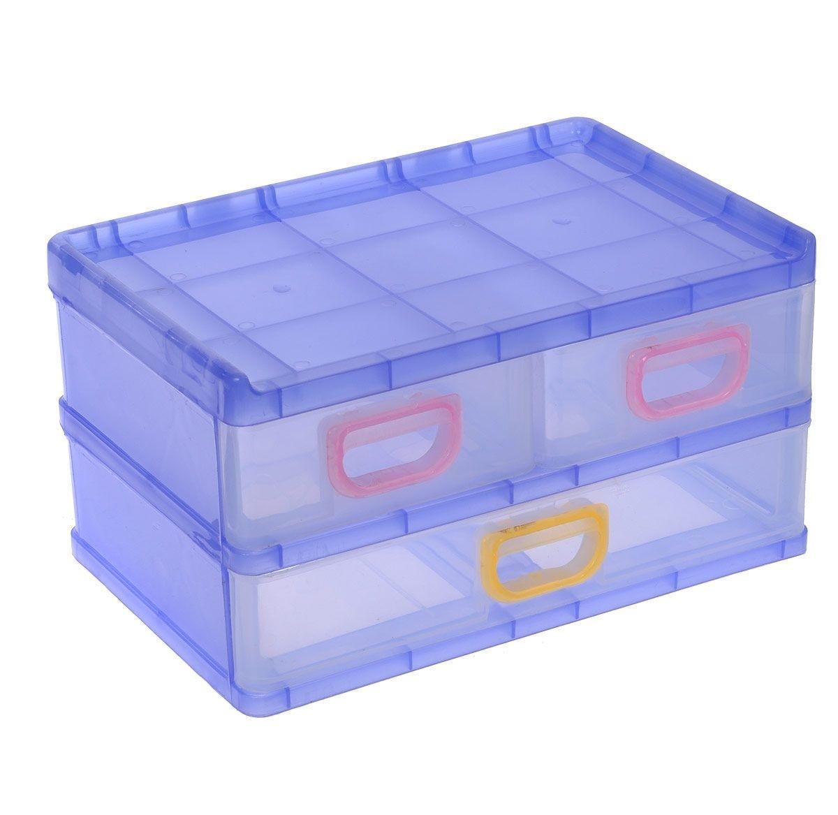 Контейнер для мелочей, цвет: сиреневый, 26 х 17 х 13,5 см 531696