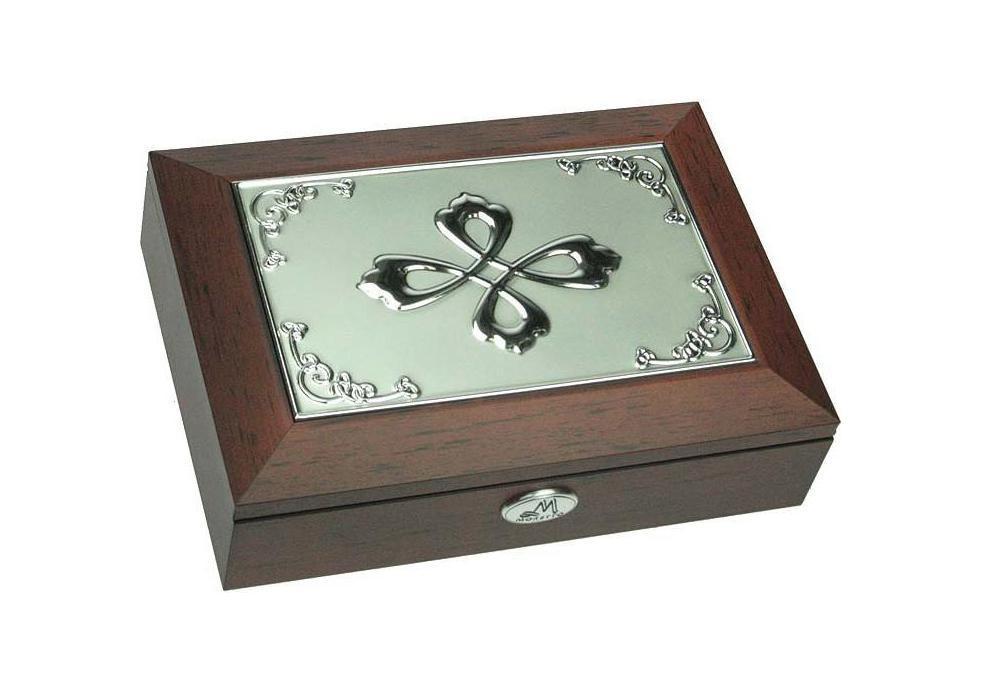 Шкатулка ювелирная Moretto, цвет: коричневый, 18 см х 13 см х 5 см. 39585 ящик универсальный альтернатива раскладной цвет в ассортименте 38 5 х 25 5 х 21 см