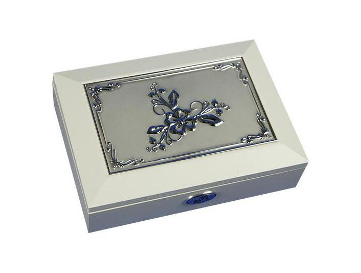 Шкатулка ювелирная Moretto, цвет: белый, 18 см х 13 см х 5 см. 39875 ящик универсальный альтернатива раскладной цвет в ассортименте 38 5 х 25 5 х 21 см