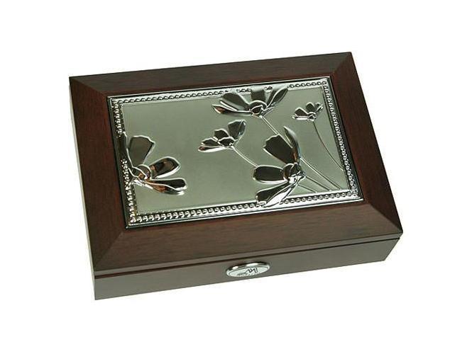 Шкатулка ювелирная Moretto, цвет: коричневый, 18 х 13 х 5 см 39836 шкатулка 21 х 13 х 13 см