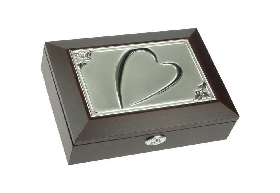 Шкатулка ювелирная Moretto, цвет: коричневый, 18 см х 13 см х 5 см 39613 ящик универсальный альтернатива раскладной цвет в ассортименте 38 5 х 25 5 х 21 см