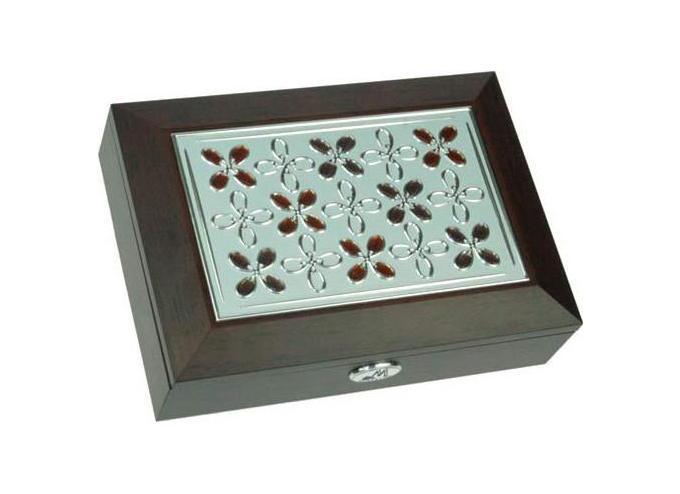 Шкатулка ювелирная Moretto, цвет: коричневый, 18 х 13 х 5 см 39734 шкатулка 21 х 13 х 13 см