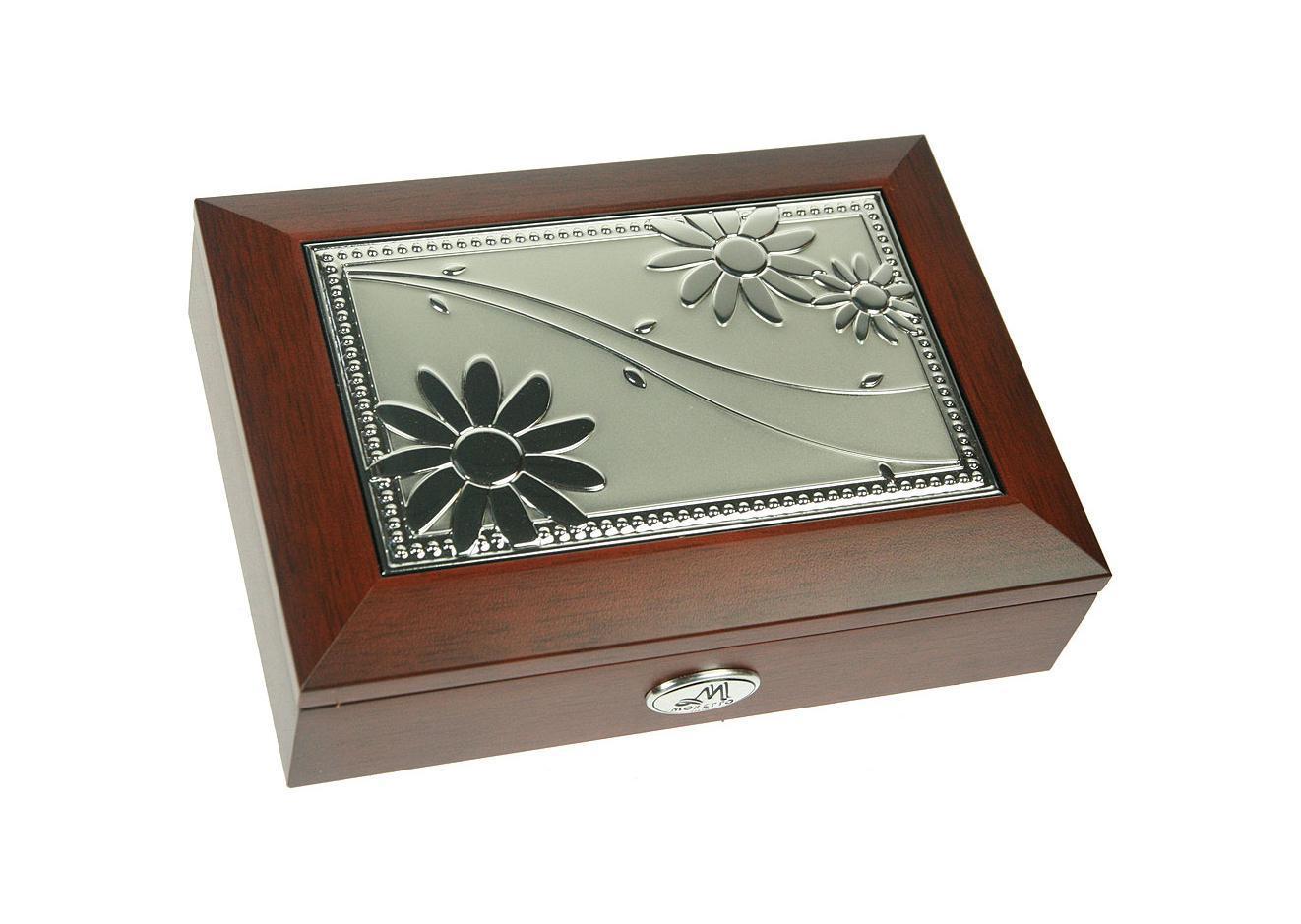 Шкатулка ювелирная Moretto, музыкальная, цвет: коричневый, 18 см х 13 см х 5 см. 139559 шкатулка агт профиль сказочных чудес цвет темно коричневый 20 х 20 х 6 5 см
