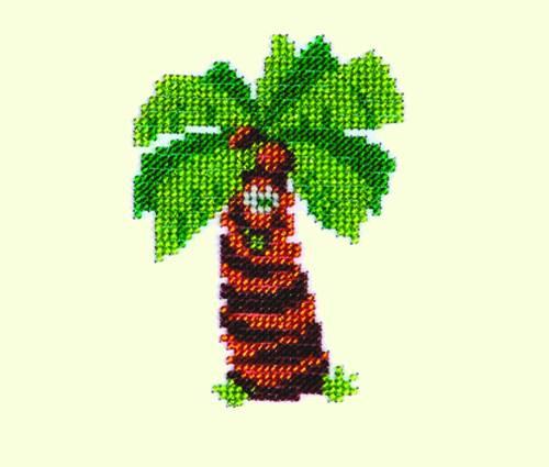 Набор для вышивания бисером Бисеринка Пальма, 9 х 11 см Б-0042 набор для вышивания бисером бисеринка под зонтиком 12 х 12 см