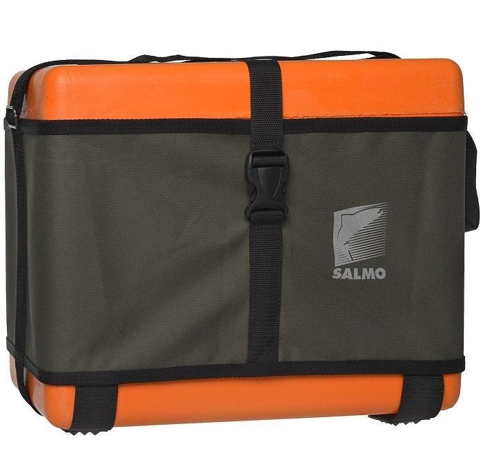 Ящик рыболовный зимний Salmo, цвет: оранжевый, 40 х 22 х 32 см