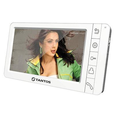 Tantos Amelie, White монитор видеодомофона tantos amelie slim видеодомофон white