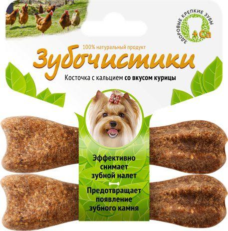 Лакомство Зубочистики для собак мелких пород, с курицей, 2 шт 607 2015