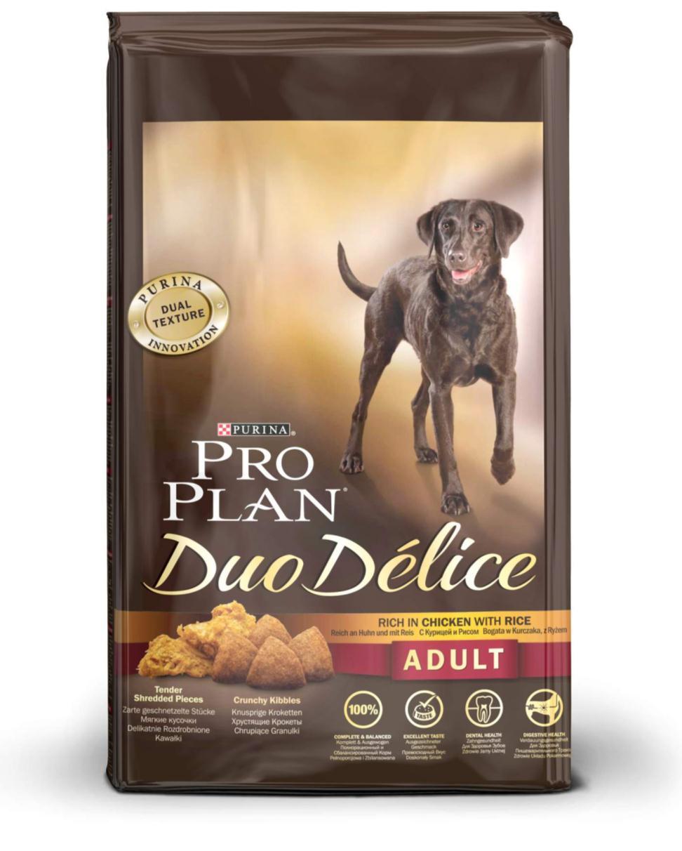 """Корм сухой для собак Pro Plan """"Duo Delice"""", с курицей и рисом, 10 кг"""