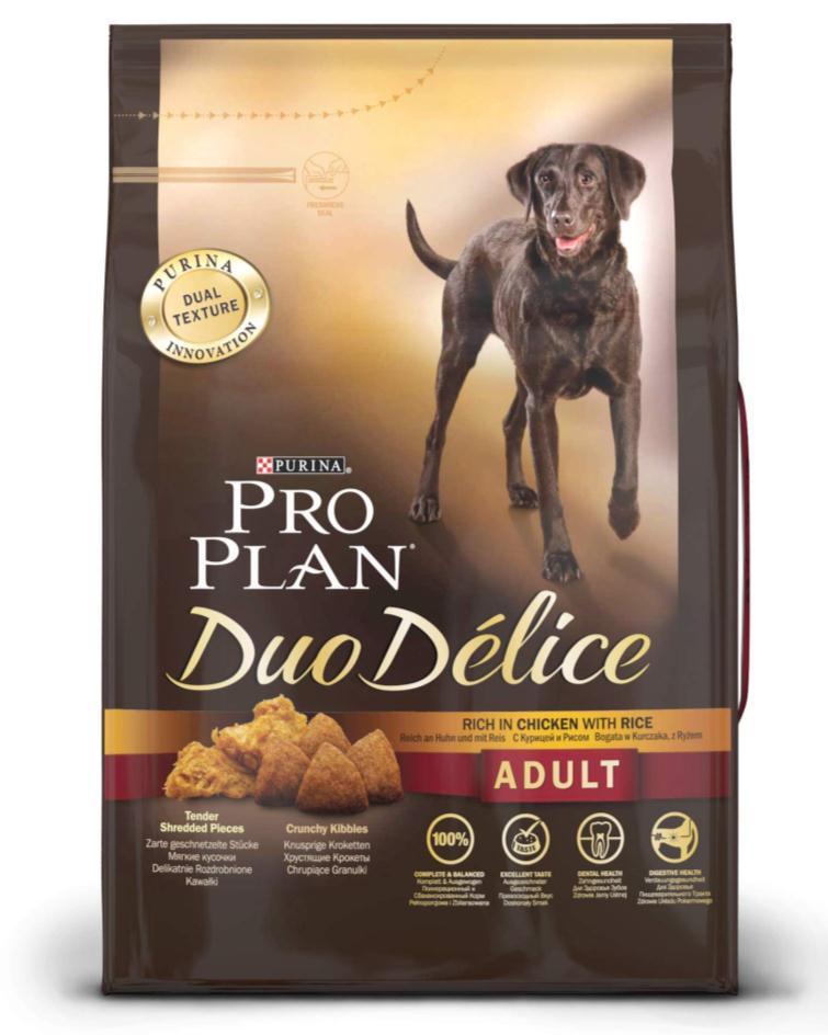 """Корм сухой для собак Pro Plan """"Duo Delice"""", с курицей и рисом, 2,5 кг"""