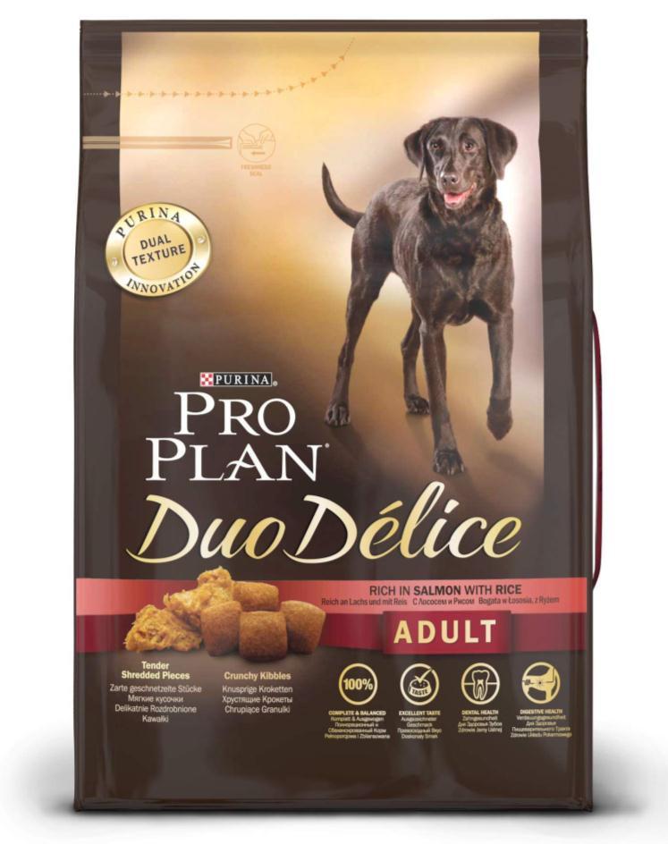 """Корм сухой для собак Pro Plan """"Duo Delice"""", с лососем и рисом, 2,5 кг"""