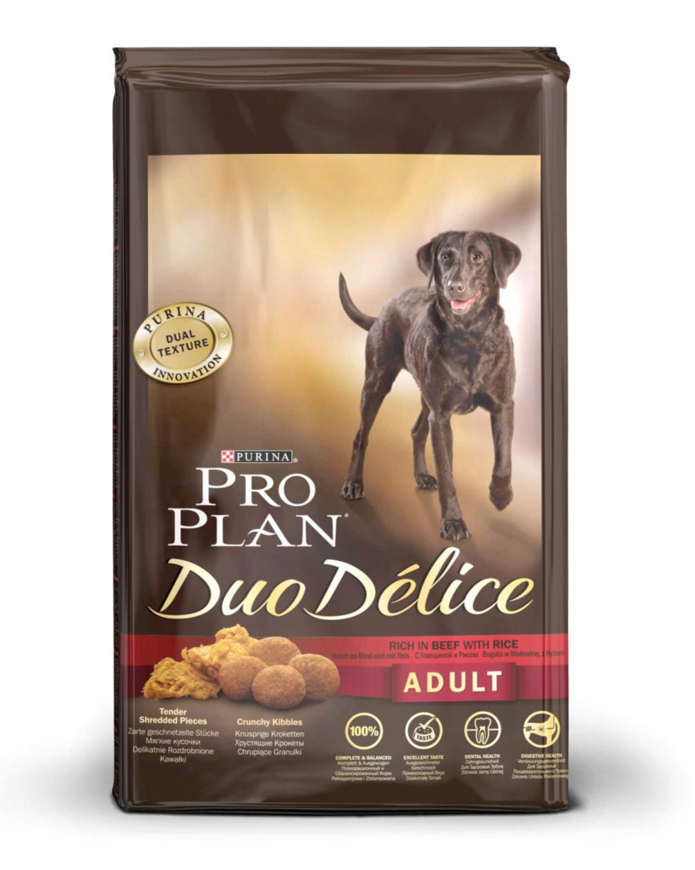 """Корм сухой для собак Pro Plan """"Duo Delice"""", с говядиной и рисом, 10 кг"""