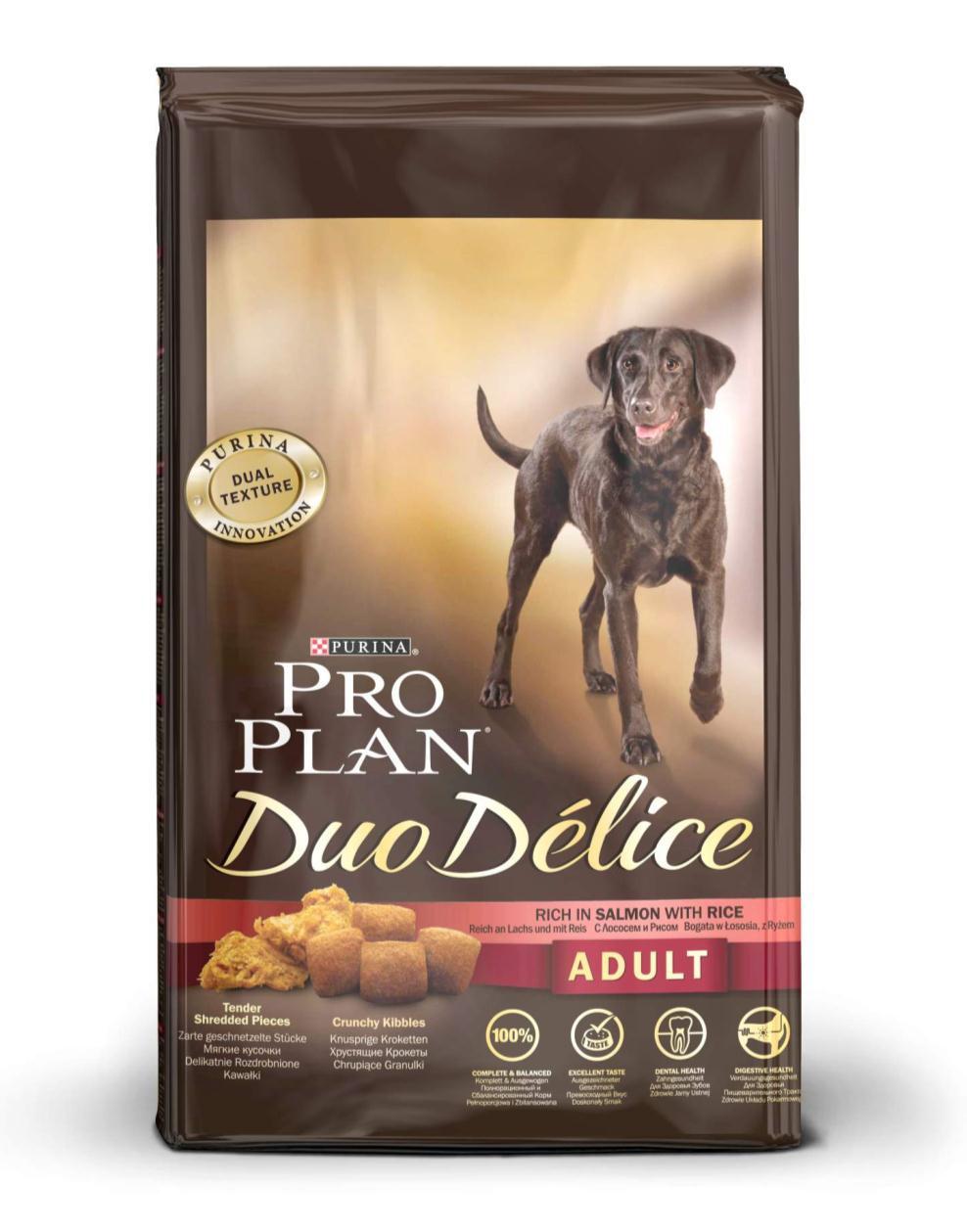 """Корм сухой для собак Pro Plan """"Duo Delice"""", с лососем и рисом, 10 кг"""