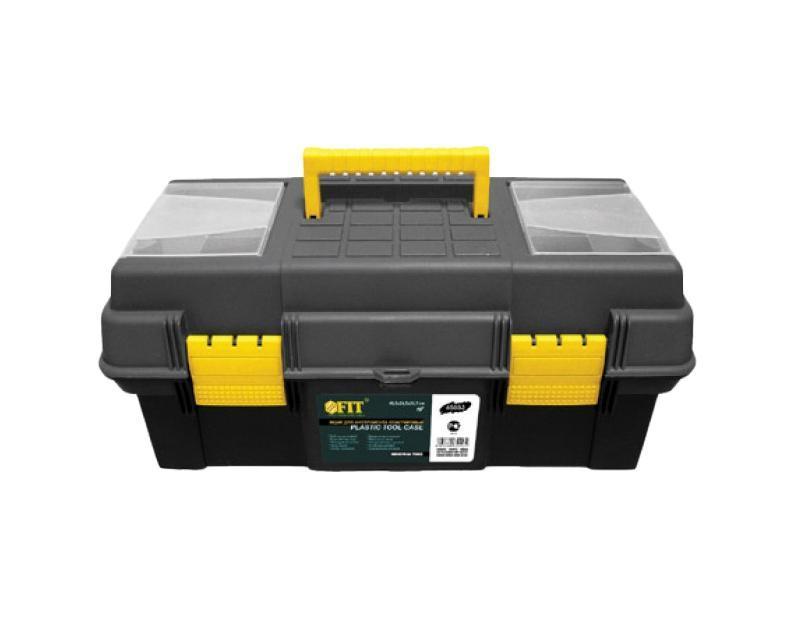 Ящик для инструмента FIT пластиковый, цвет: черный, желтый, 16 лоток для крепежа fit 35 x 21 x 16 см