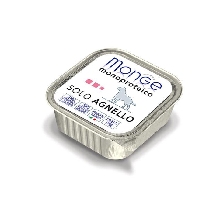 "Консервы для собак Monge ""Monoproteico Solo"", паштет из ягненка, 150 г"