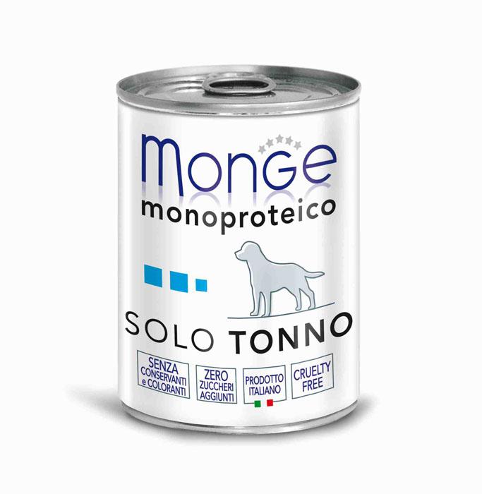 Консервы для собак Monge Monoproteico Solo, паштет из тунца, 400 г консервы для собак monge fresh с ягненком 100 г