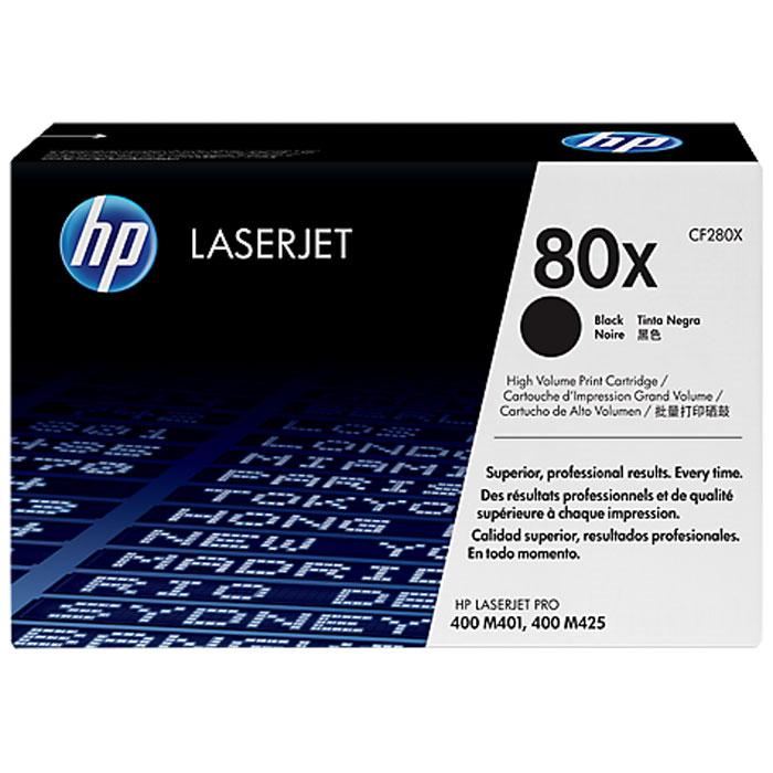 Тонер-картридж HP 80X, черный, для лазерного принтера, оригинал