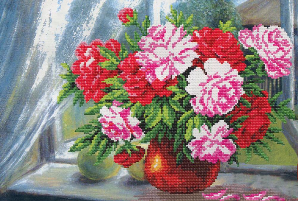 Набор для вышивания бисером Цветы радости, 26 см х 38 см. 04/Б