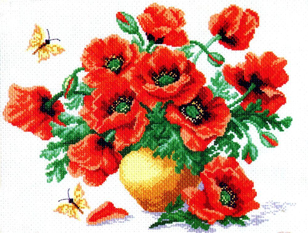 бывает вышивание крестиком картинки с цветами соображений практичности